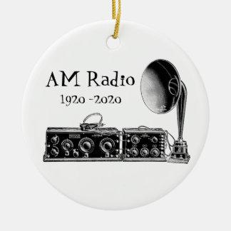 Ornement Rond En Céramique Récepteur radioélectrique du cru AM de