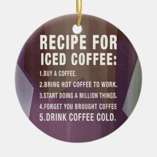 Ornement Rond En Céramique Recette pour le café froid