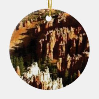 Ornement Rond En Céramique regard naturel de désert