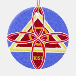 Ornement Rond En Céramique Reiki Karuna Ommantra : NOSA