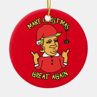 Ornement Rond En Céramique Rendez Noël grand encore