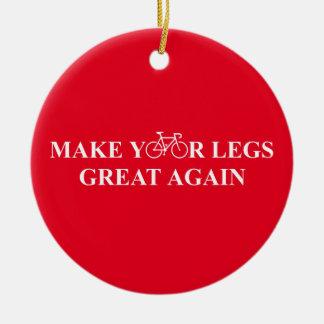 Ornement Rond En Céramique Rendez vos jambes grandes encore