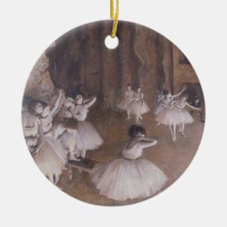 Ornement Rond En Céramique Répétition de ballet d'Edgar Degas | sur l'étape,