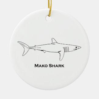 Ornement Rond En Céramique Requin de Mako