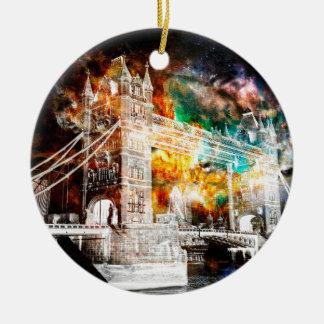 Ornement Rond En Céramique Respirez encore les rêves de Londres