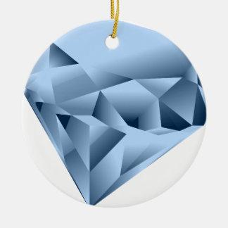 Ornement Rond En Céramique Ressemble à une gemme