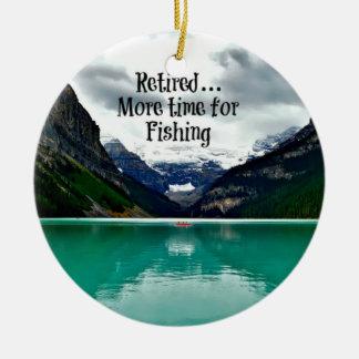 Ornement Rond En Céramique Retiré… plus d'heure pour la pêche