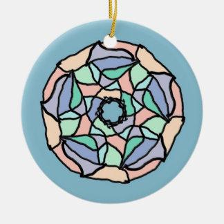 Ornement Rond En Céramique Rêves en pastel
