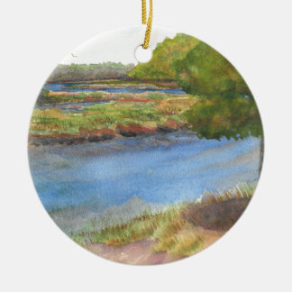 Ornement Rond En Céramique rivière de squamscott aux newfields le 31 juillet