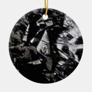 Ornement Rond En Céramique roche noire de lustre
