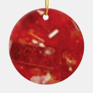 Ornement Rond En Céramique roche rouge de fracture