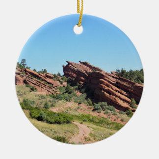 Ornement Rond En Céramique roches rouges en Morrison, le Colorado