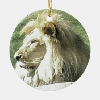 Ornement Rond En Céramique Roi des bêtes