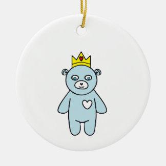 Ornement Rond En Céramique Roi d'ours de nounours
