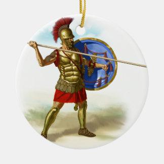 Ornement Rond En Céramique Romains