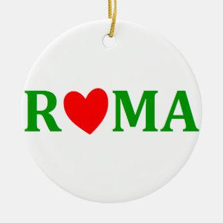 Ornement Rond En Céramique Rome ville éternelle