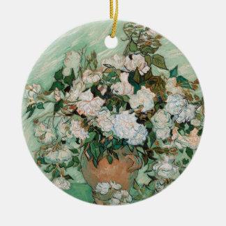 Ornement Rond En Céramique Roses de Vincent van Gogh |, 1890