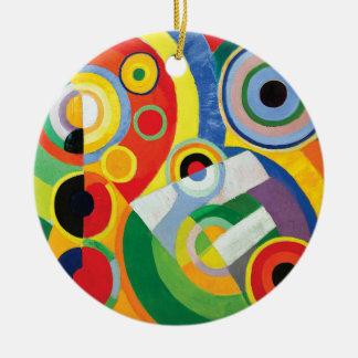 Ornement Rond En Céramique Rythme Joie de Vivre par Robert Delaunay
