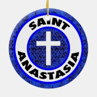 Ornement Rond En Céramique Saint Anastasia