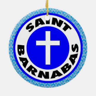 Ornement Rond En Céramique Saint Barnabas