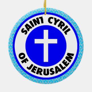 Ornement Rond En Céramique Saint Cyrille de Jérusalem