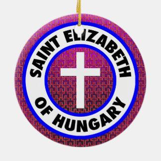 Ornement Rond En Céramique Saint Elizabeth de la Hongrie