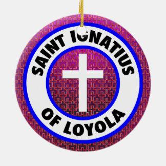 Ornement Rond En Céramique Saint Ignatius de Loyola