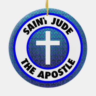 Ornement Rond En Céramique Saint Judas l'apôtre