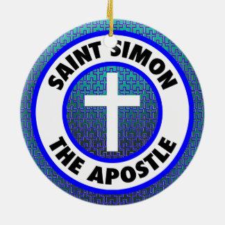 Ornement Rond En Céramique Saint Simon l'apôtre