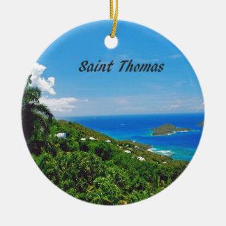 Ornement Rond En Céramique Saint Thomas
