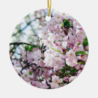 Ornement Rond En Céramique Sakura