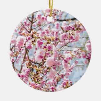 Ornement Rond En Céramique Sakura Asie
