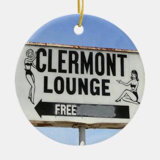 Ornement Rond En Céramique Salon de Clermont, Atlanta, la Géorgie, Joyeux