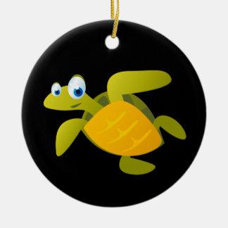 Ornement Rond En Céramique Sam la tortue de mer