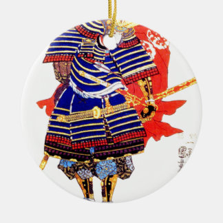 Ornement Rond En Céramique Samouraïs - 歌川国芳 d'Utagawa Kuniyoshi