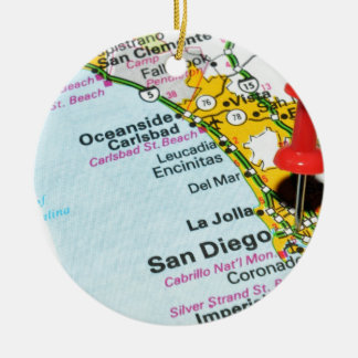 Ornement Rond En Céramique San Diego, la Californie