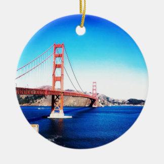 Ornement Rond En Céramique San Francisco golden gate bridge la Californie