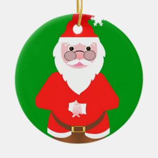Ornement Rond En Céramique Santa Claus