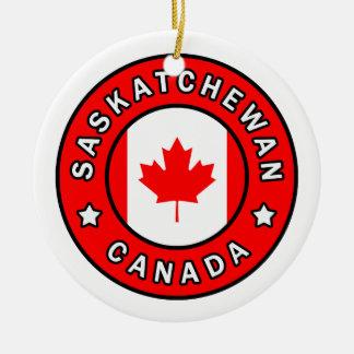 Ornement Rond En Céramique Saskatchewan Canada