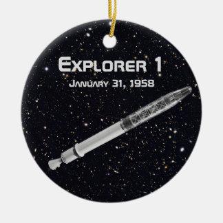 Ornement Rond En Céramique Satellite de l'explorateur 1