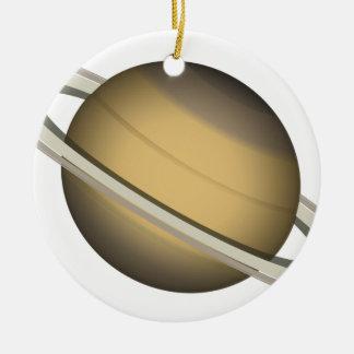 Ornement Rond En Céramique Saturn