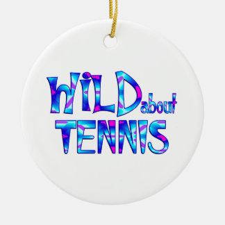 Ornement Rond En Céramique Sauvage au sujet du tennis