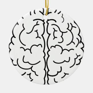 Ornement Rond En Céramique Schéma cerveau