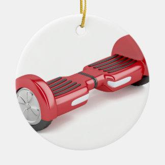 Ornement Rond En Céramique Scooter de auto-équilibrage rouge