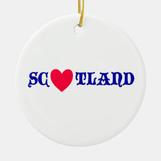 Ornement Rond En Céramique Scotland love