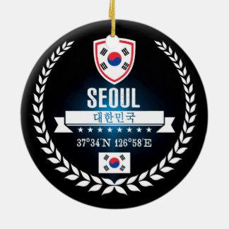 Ornement Rond En Céramique Séoul