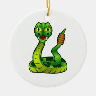 Ornement Rond En Céramique Serpent à sonnettes