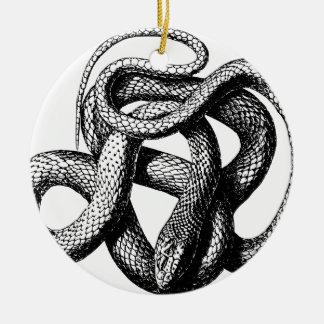 Ornement Rond En Céramique Serpent tordu