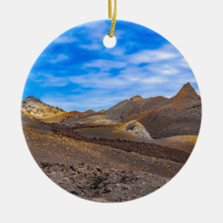 Ornement Rond En Céramique Sierra paysage de Negra, Galapagos, Equateur