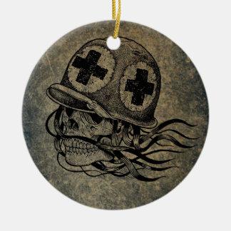 Ornement Rond En Céramique Skull-and-crossbones 2